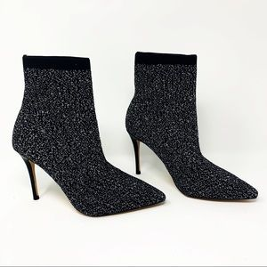 New Something Navy Nix Bootie Boot Black & Silver